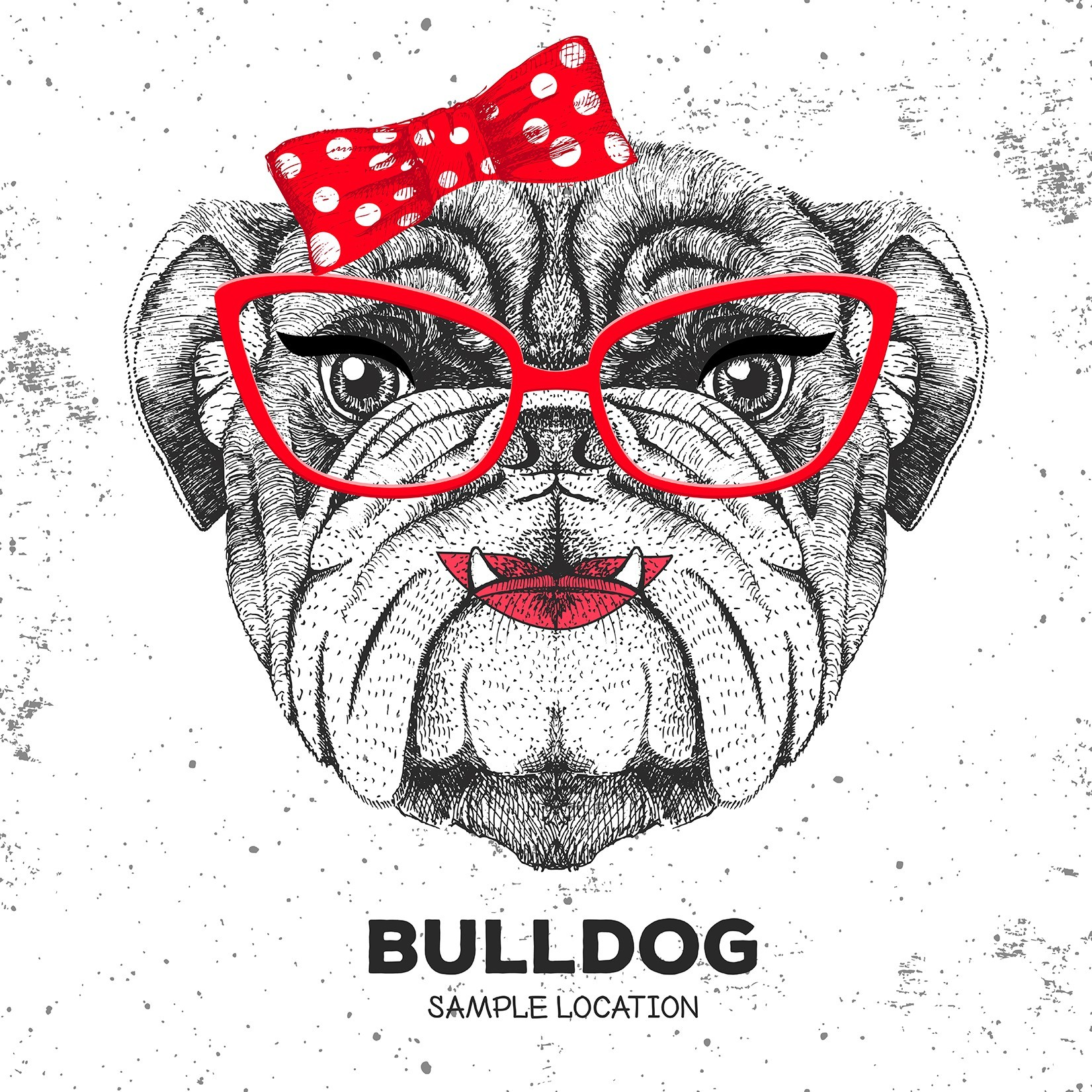 Estampado Bulldog